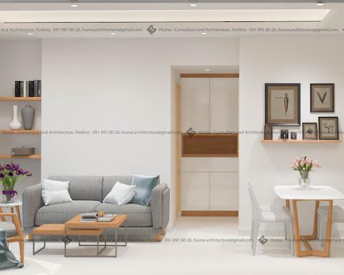 Thiết kế và thi công căn hộ 2 phòng ngủ chung cư Riverside