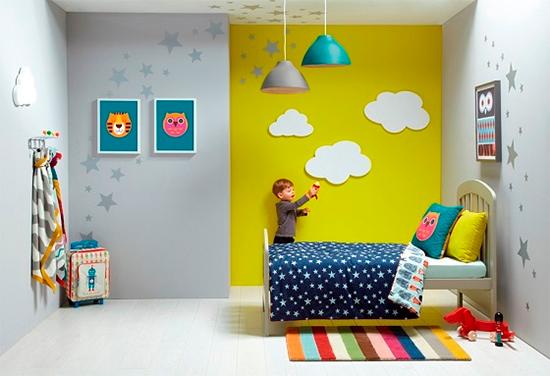 parede amarela, yellow wall, decor, quarto infantil, kid´s room, decoração