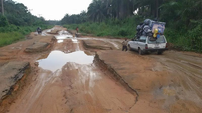 See the current state of Aba-Ikot Ekpene Road