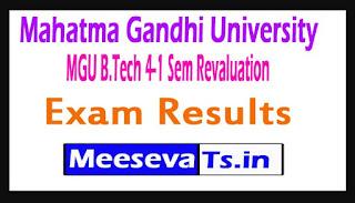 Mahatma Gandhi University MGU B.Tech 4-1 Sem Revaluation Exam Results 2017