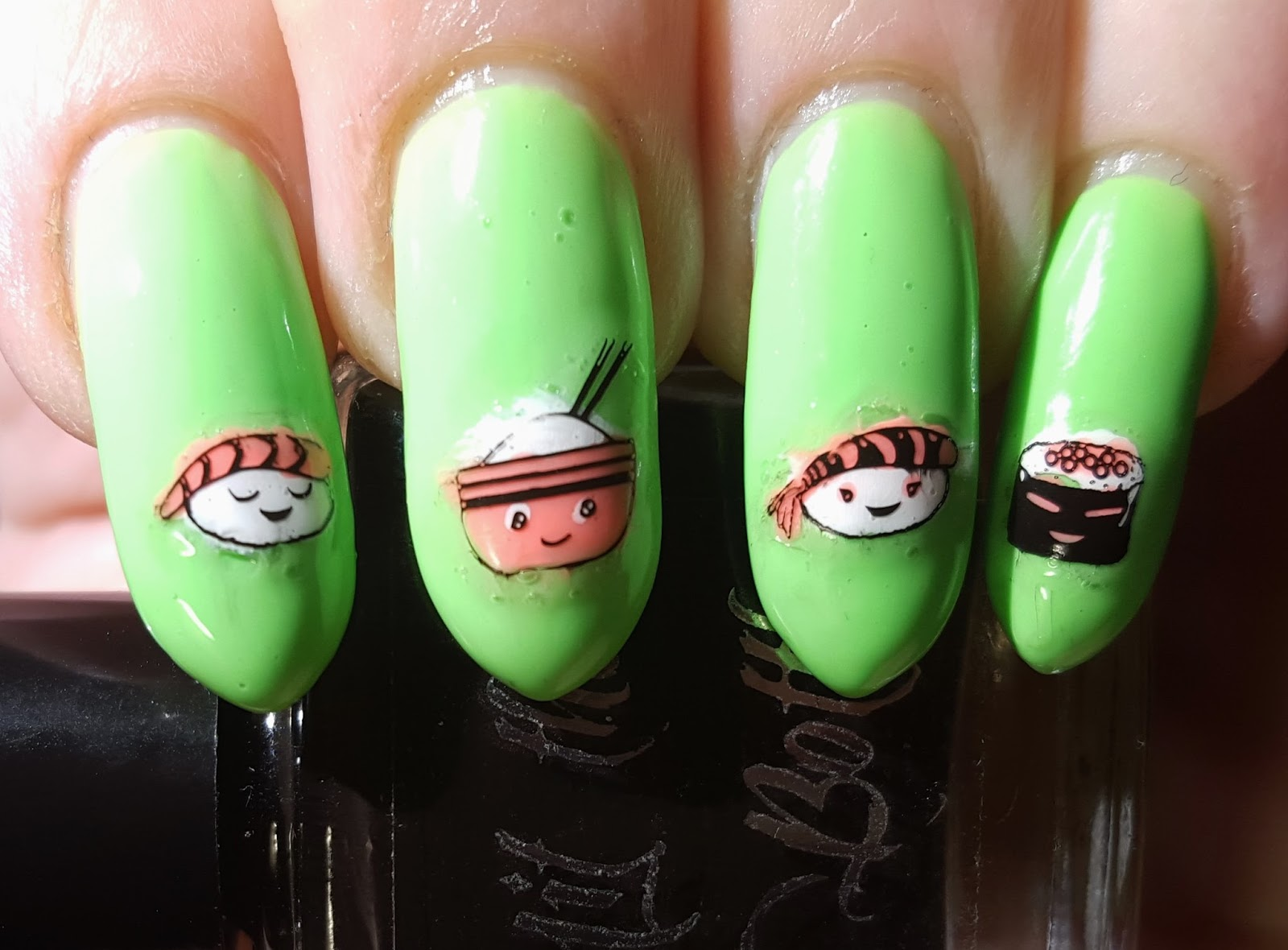 Inky Whisker\'s Musings: 40 Great Nail Art Ideas ~ Food