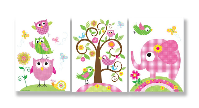Whimsical Wall art for Kids Room Nursery BABY