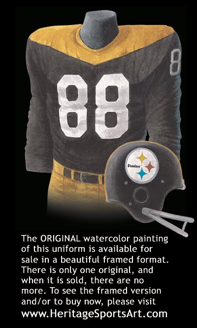 sports shoes 8a911 ca1a1 Pittsburgh Steelers Uniform and Team History | Heritage ...