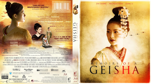 Memoirs Of A Geisha Bluray Cover