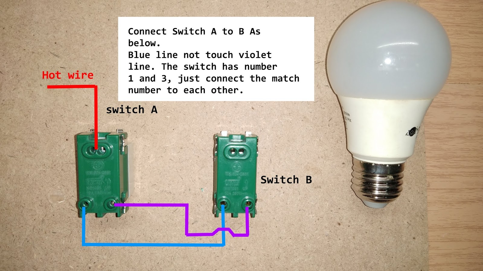 Two Ways Light Switch Wiring Diagram Ac
