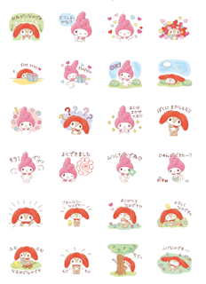 My Melody's Second Cousin Line sticker
