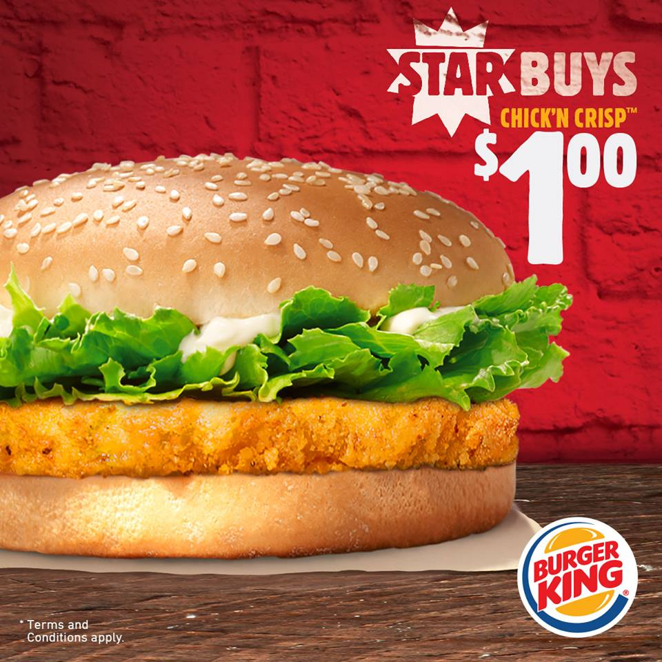 foodiefc burger king singapore 1 chick n crisp burger. Black Bedroom Furniture Sets. Home Design Ideas