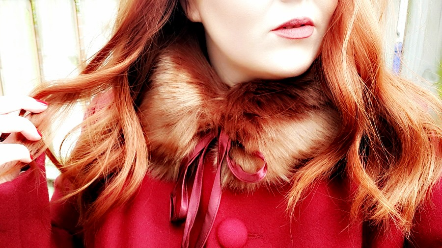 Simply Be, Plus Size Winter Coat, Faux Fur Collar Coat, Vintage Coat