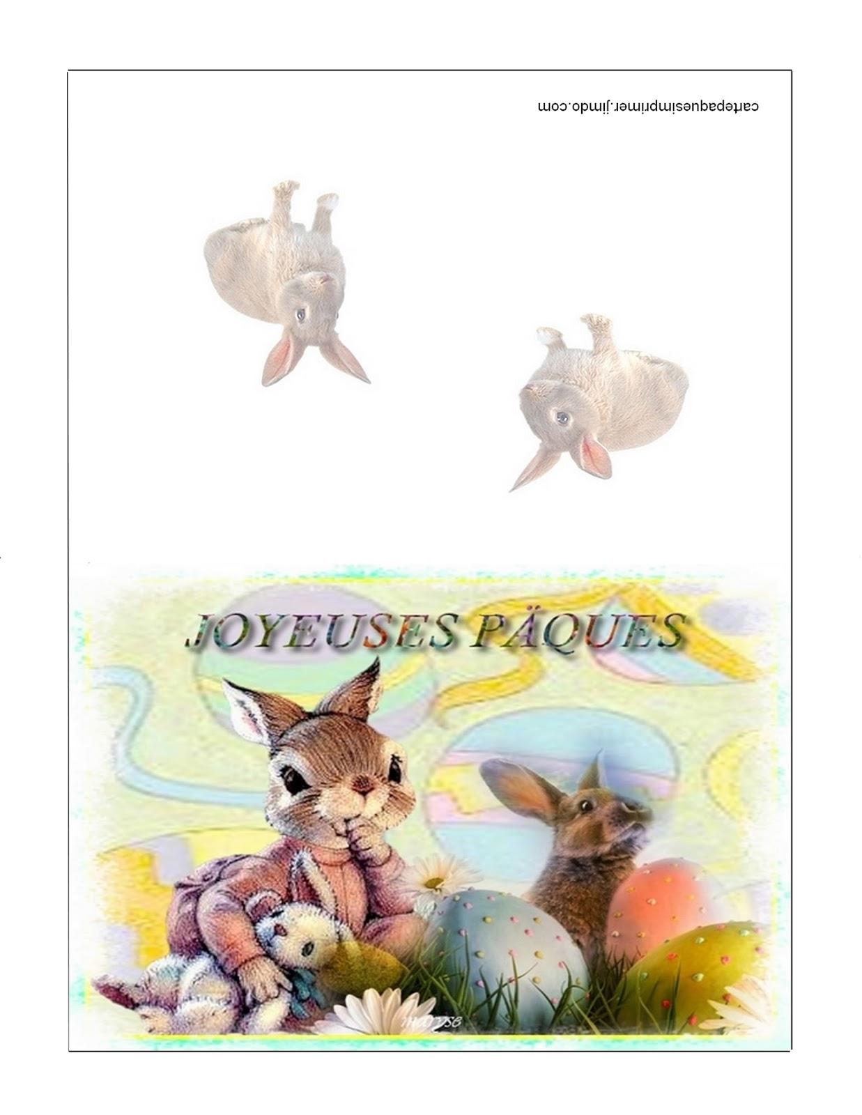 Carte de p ques imprimer gratuites carte p ques Carte de voeux personnalisable gratuite a imprimer