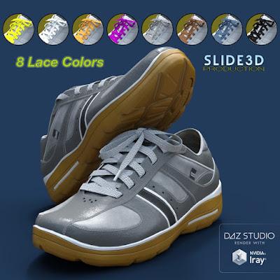 Slide3D Sport Sneakers for Genesis 3 Female Texture Addon