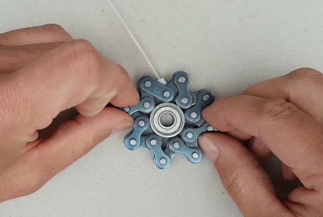 Cara Membuat Fidget Spinner Dari Rantai Sepeda Motor