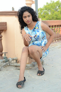 Actress Priyankha Stills in Floral Short Dress at Golmal Gullu Movie Pressmeet 0320.JPG