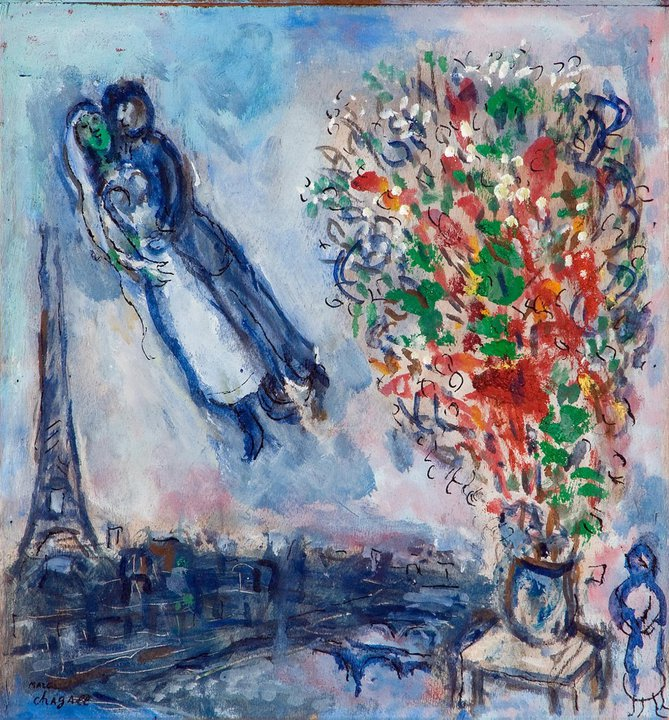 Marc Chagall | Paris through my window | 1913