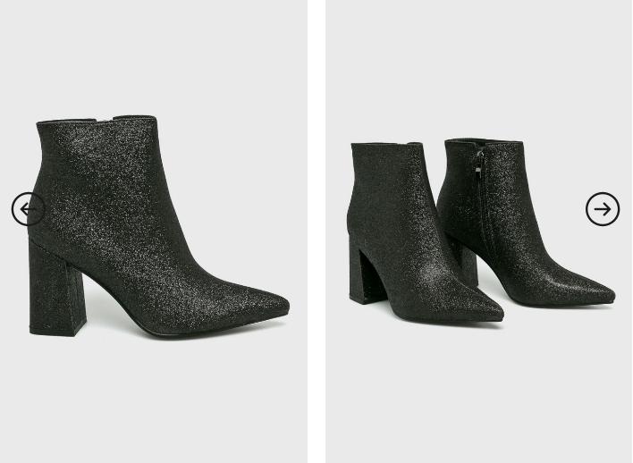 Public Desire - Botine negre dama elegante si moderne ieftine 2019