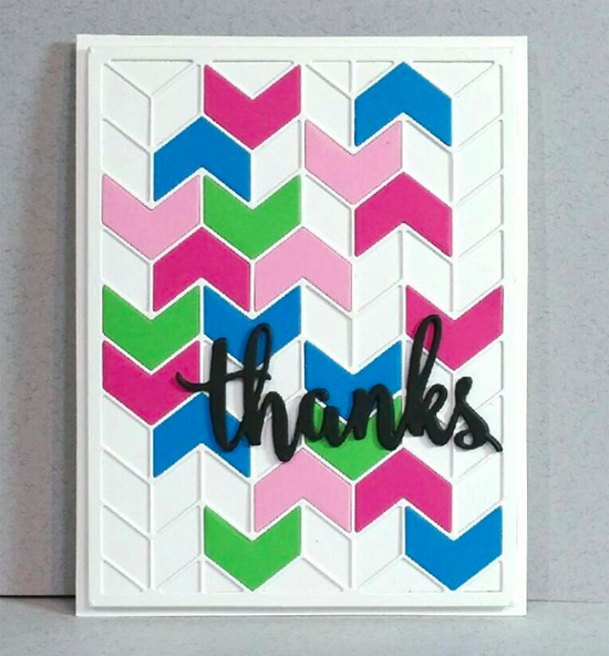 Split Chevron Cover-Up and Thanks & Hello Die-namics - Kirsty McIntyre #mftstamps