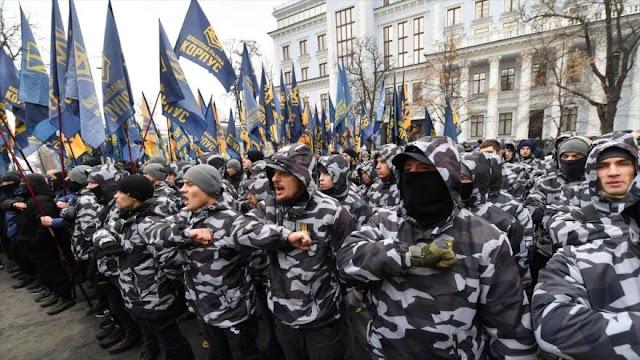 Nacionalistas ucranianos exigen ruptura de relaciones con Rusia