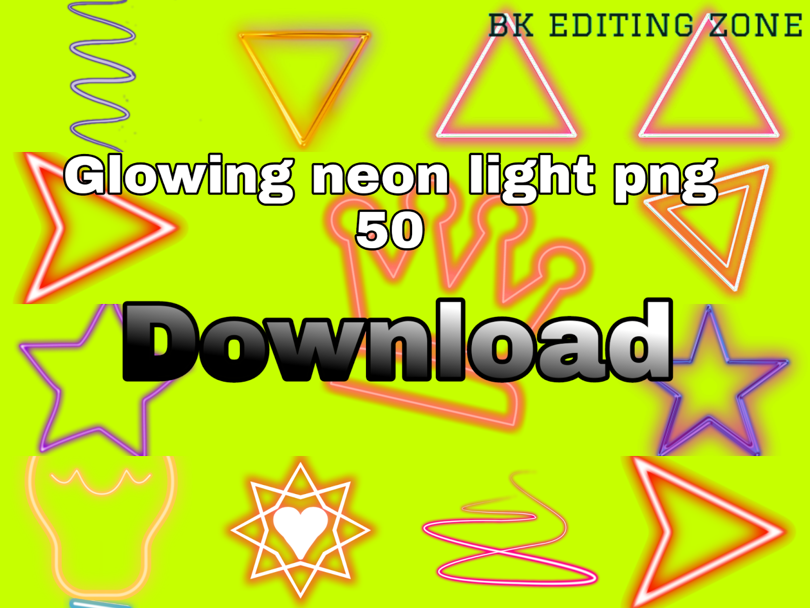 New neon light png ~ Bk editing zone