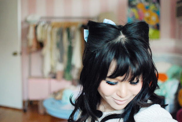 darling rainbow cat ear hairstyle
