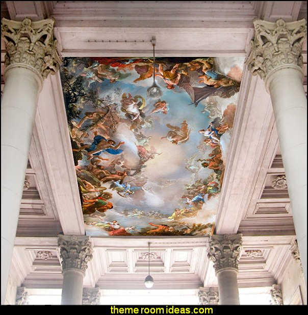 ceiling wallpaper Hotel Greek mythology mural wallpaper