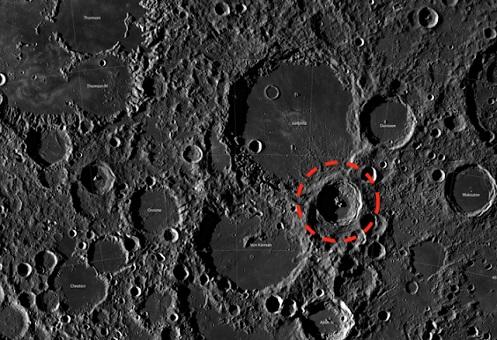 Navicella spaziale sulla luna