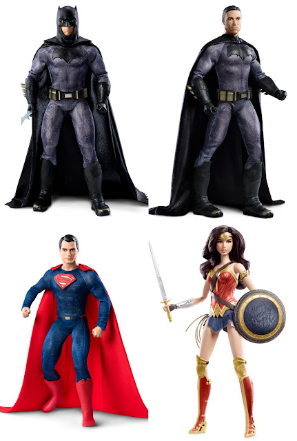 Batman v Superman: Dawn of Justice Barbie Collection by Mattel - Batman, Superman & Wonder Woman