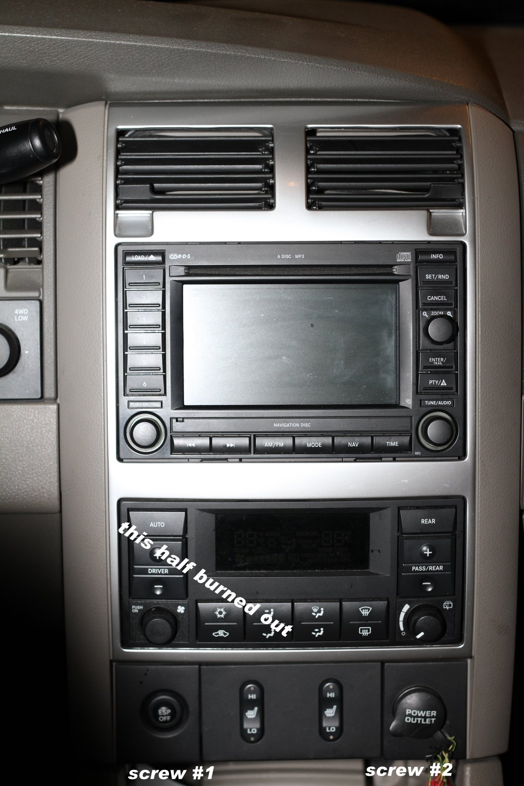 2007 Dodge Durango - Heater / AC Control Instrument Lights