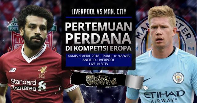 Prediksi Liverpool Vs Manchester City, Kamis 05 April 2018 Pukul 01.45 WIB