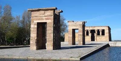 Templo de Debod en Madrid.