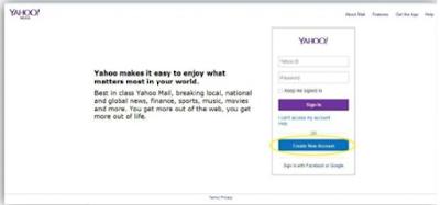 cara membuat email yahoo di laptop pc / komputer