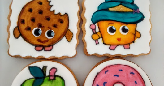 Painted Cartoon Character Cookies