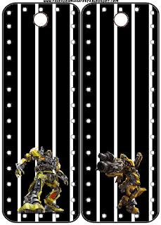Para marcapáginas de Transformers..