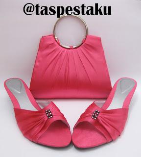 Set Matching Tas Pesta Mewah Warna Pink Fanta Mewah dan ELegant