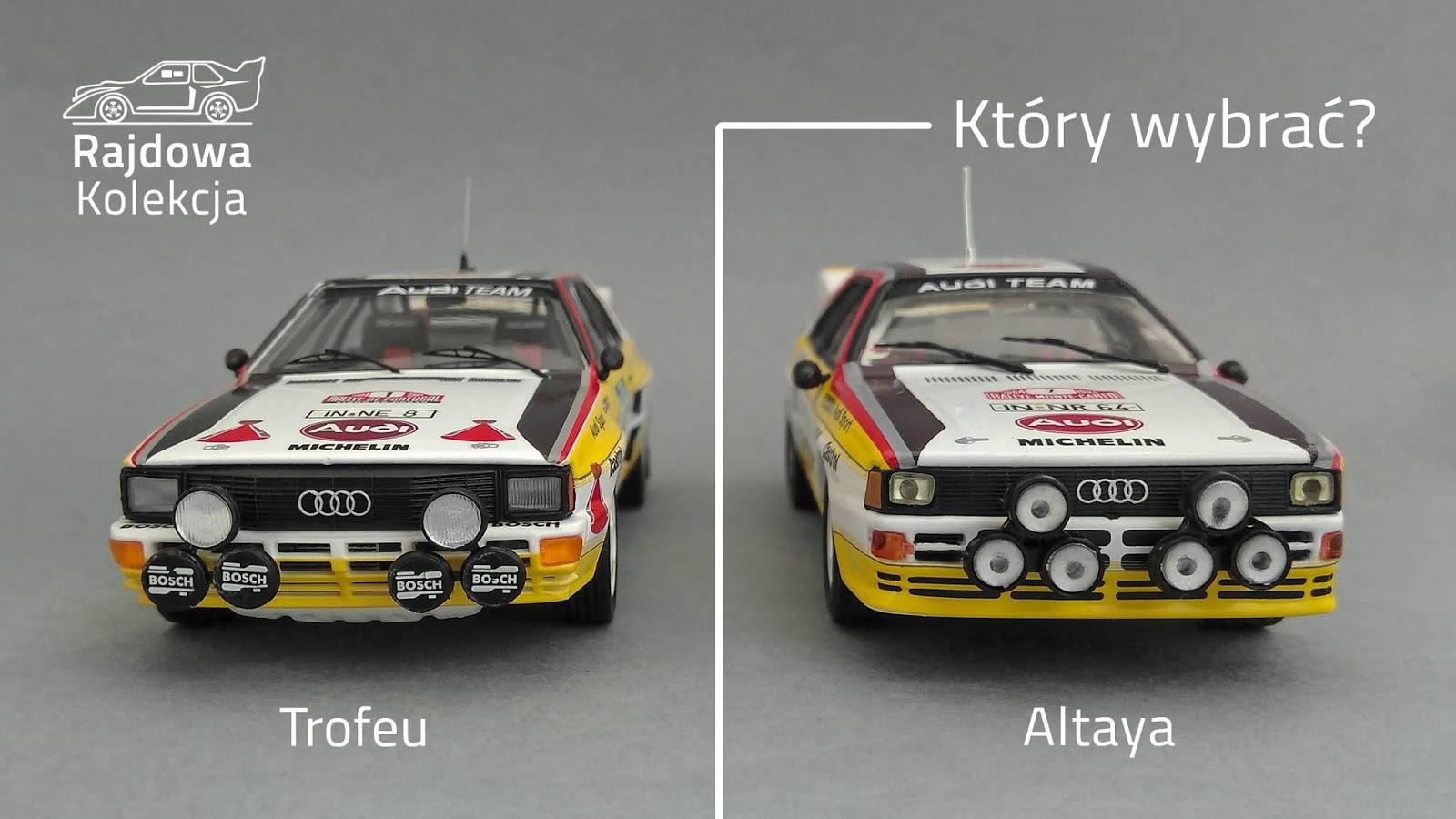 Trofeu vs. Altaya - Audi Quattro A2 1984
