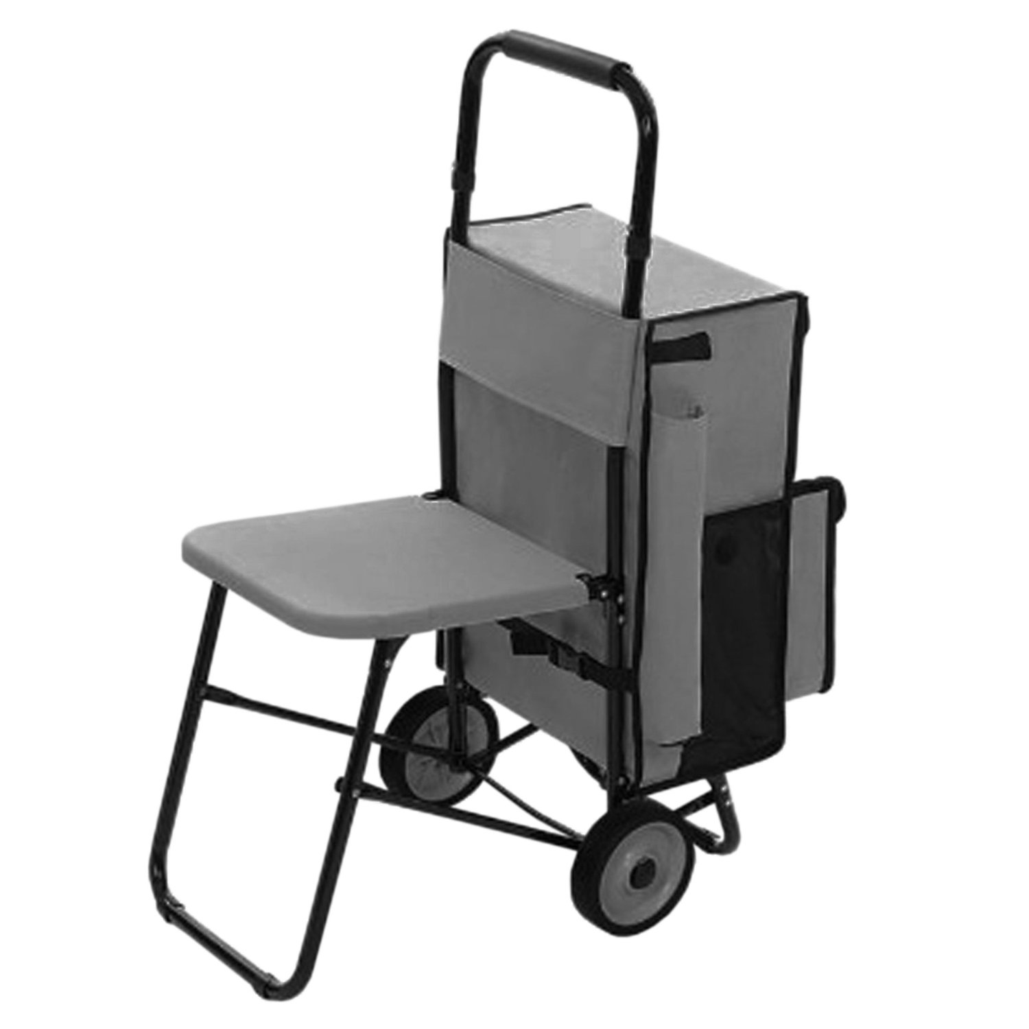 Rolling Personal Cart with Built-In Seat
