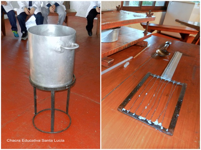 Olla, prensa, cuchara y lira - Chacra Educativa Santa Lucía