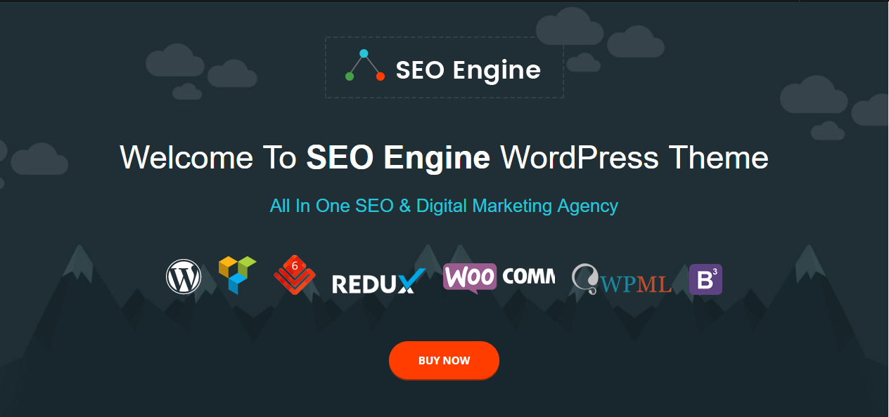 SEO engine seo optimized theme for agency