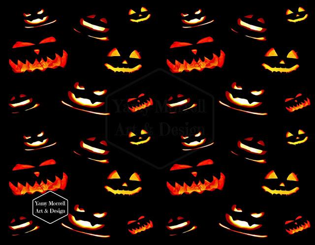 Halloween-pumpkins-pattern-design-by-yamy-morrell