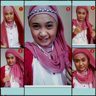Tutorial hijab paris bergambar