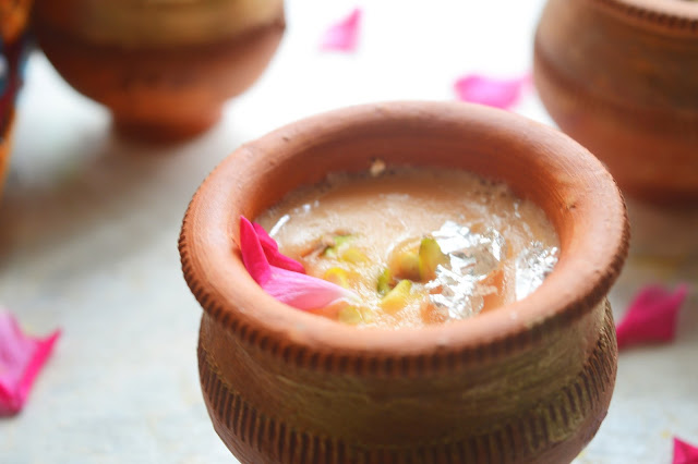 Kesar Phirni   Saffron Flavored  Rice Pudding   Indian Dessert