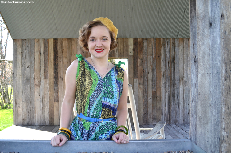 Flashback Summer: vintage 1950s sundress - Advance 5627 Harari fabric