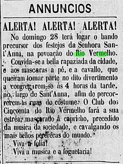 Bando Precursor dos festejos da senhora Sant'Anna em 1877