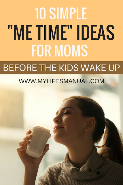 How moms can have quiet time before her kids wake up. Ten morning routine for busy moms.