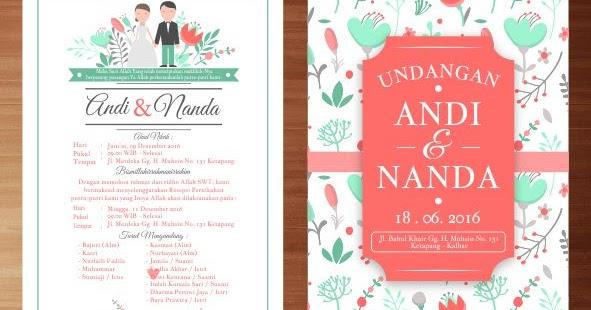 download desain vektor undangan pernikahan bertema