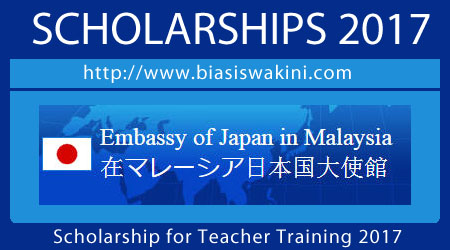 Scholarship for Teacher Training 2017