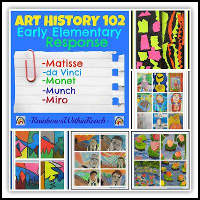 Art History 102: Elementary School Response to the Masters via RainbowsWithinReach