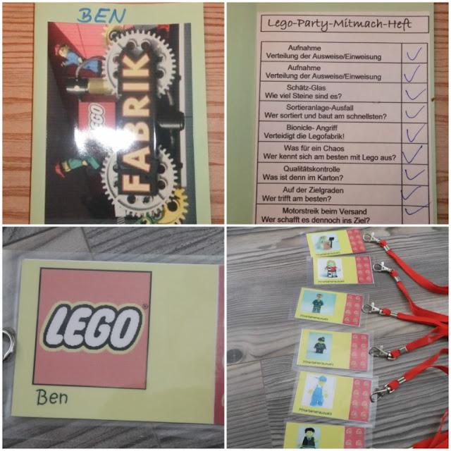 Legoparty Mitmachheft und Ausweise
