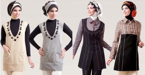 Contoh desain baju muslim casual untuk wanita masakini
