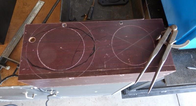 scribing lines for speaker holes