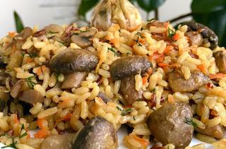постный плов с грибами без мяса