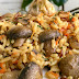 Постный диетический плов с грибами и овощами для похудения